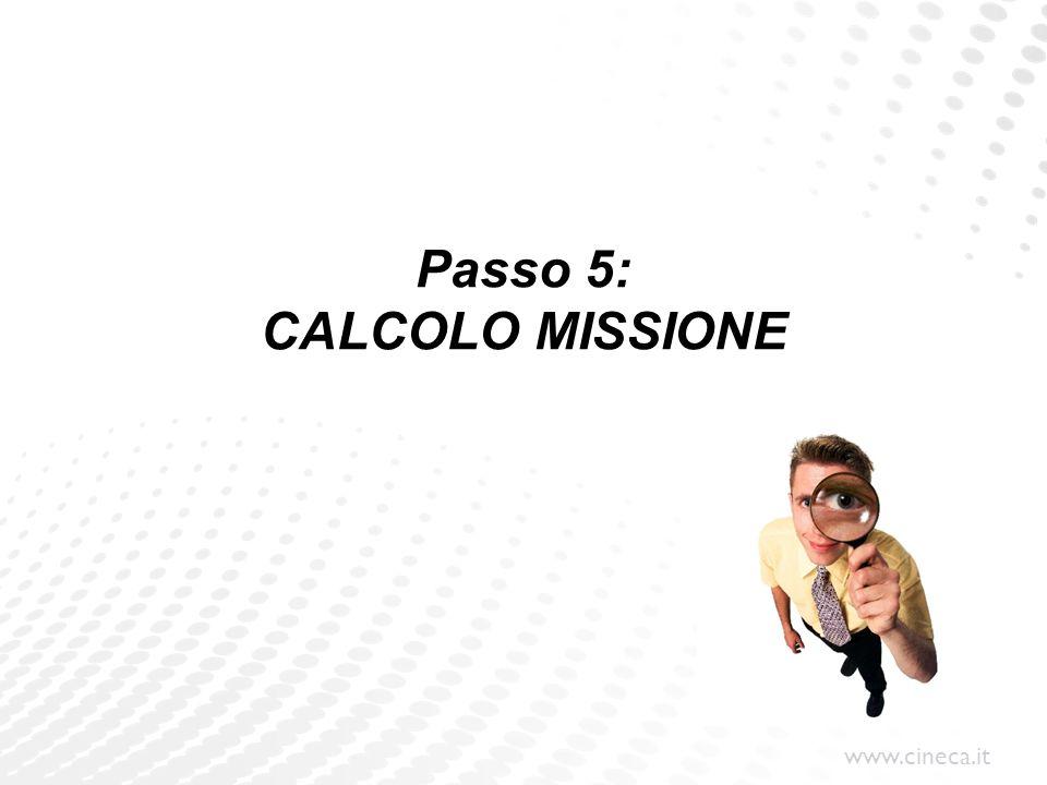 www.cineca.it Passo 5: CALCOLO MISSIONE