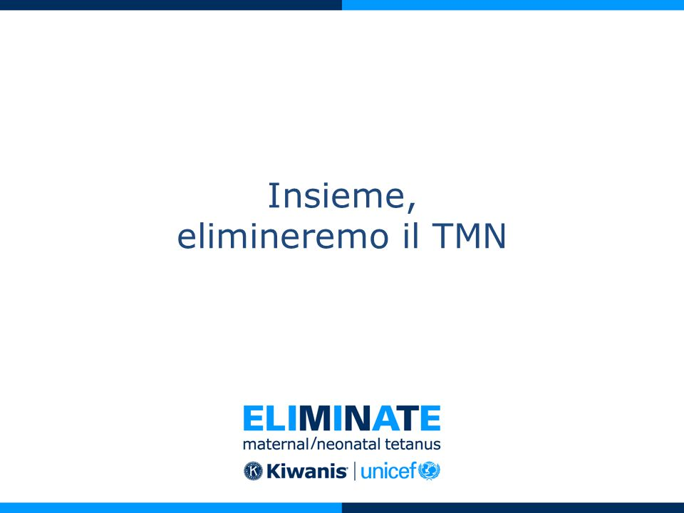 Insieme, elimineremo il TMN