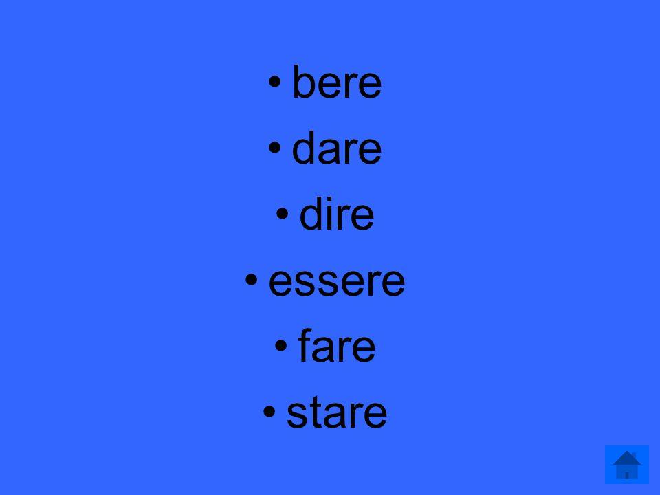 L'imperfetto del congiuntivo 400 Questi sono i verbi irregolari nell'imperfetto del congiuntivo. (6)