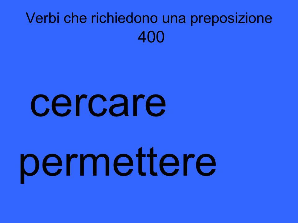 L'imperfetto del congiuntivo 400 Questi sono i verbi irregolari nell'imperfetto del congiuntivo.