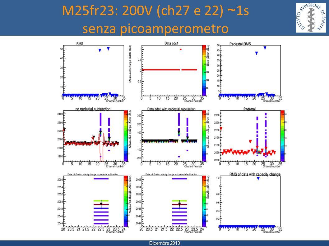 Dicembre 2013 M25fr23: 200V (ch27 e 22) ~ 1s senza picoamperometro