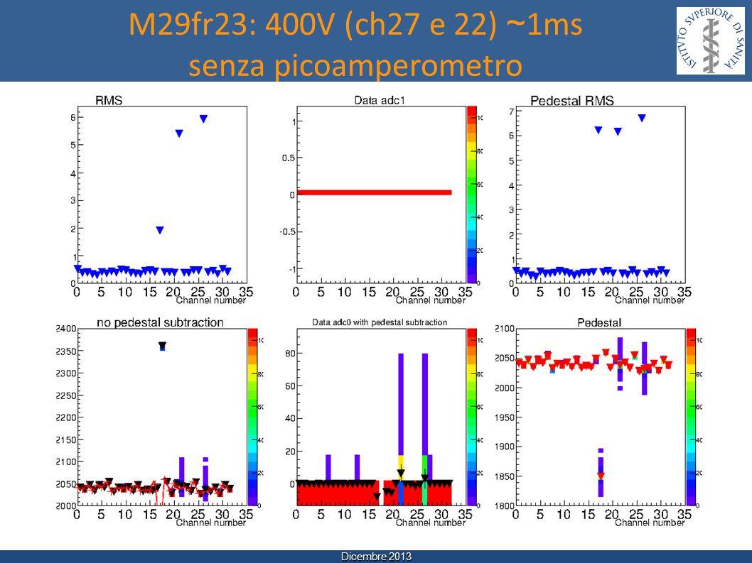 Dicembre 2013 M29fr23: 400V (ch27 e 22) ~ 1ms senza picoamperometro