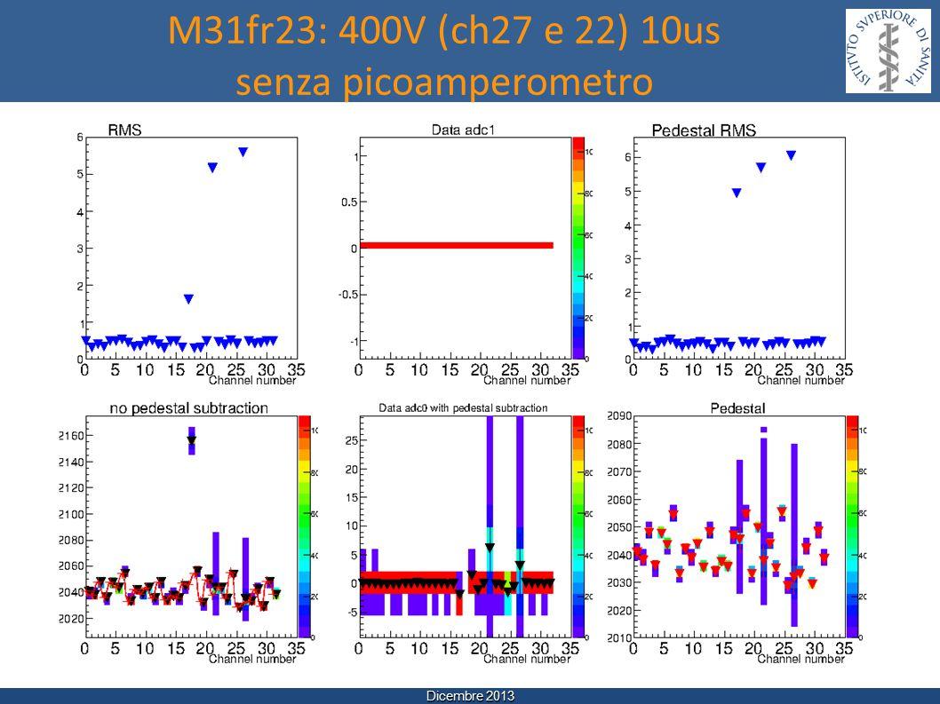 Dicembre 2013 M31fr23: 400V (ch27 e 22) 10us senza picoamperometro