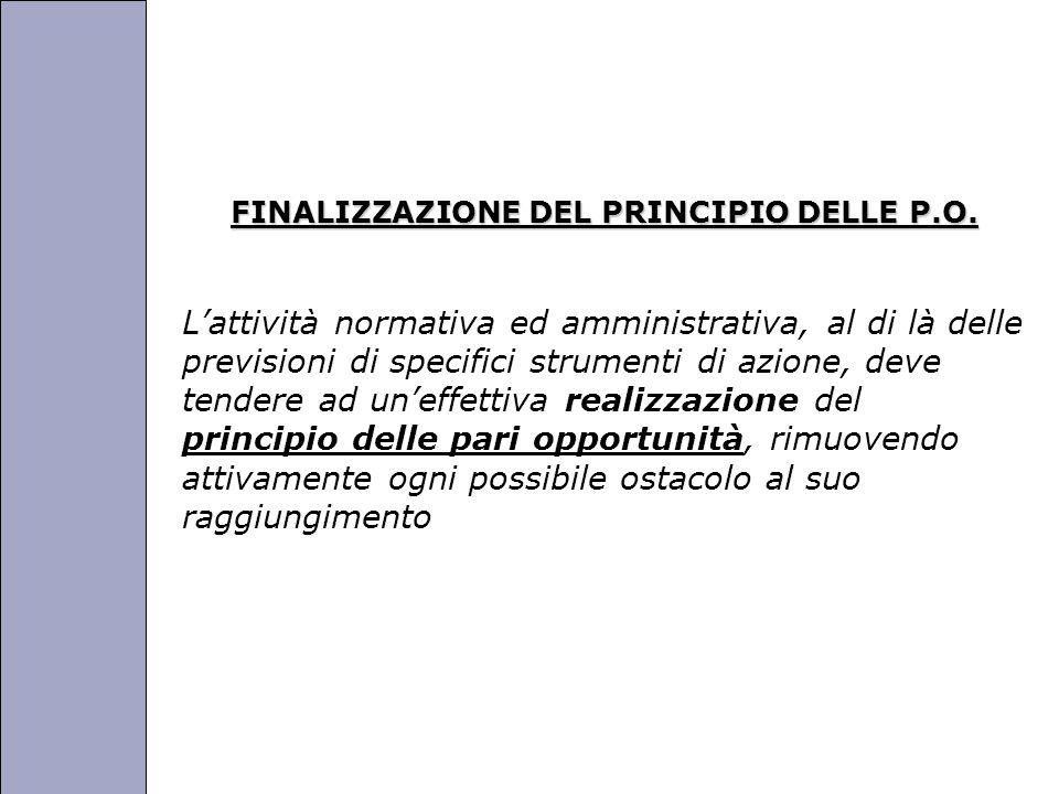 Università degli Studi di Perugia FINALIZZAZIONE DEL PRINCIPIO DELLE P.O.