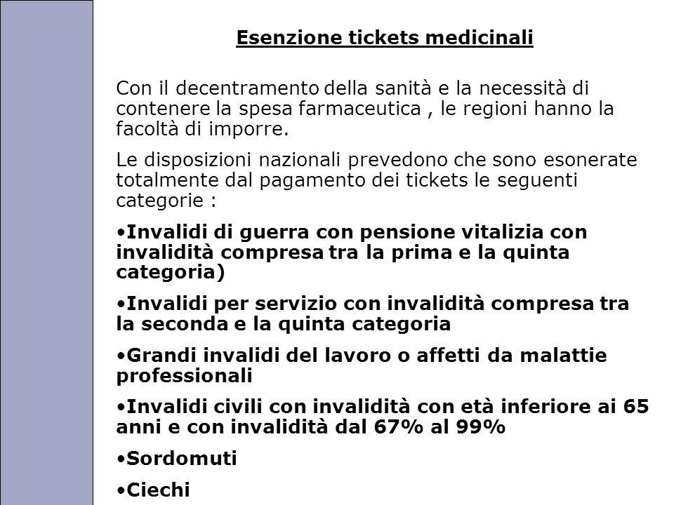 Università degli Studi di Perugia Esenzione tickets medicinali Con il decentramento della sanità e la necessità di contenere la spesa farmaceutica, le regioni hanno la facoltà di imporre.