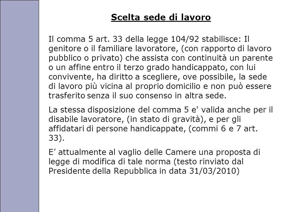 Università degli Studi di Perugia Scelta sede di lavoro Il comma 5 art.