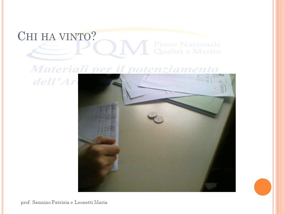C HI HA VINTO ? prof. Sannino Patrizia e Leonetti Maria