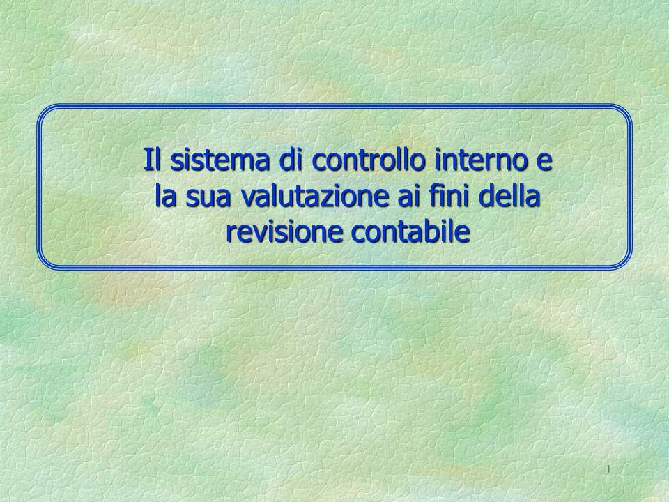 1 Il sistema di controllo interno e la sua valutazione ai fini della revisione contabile