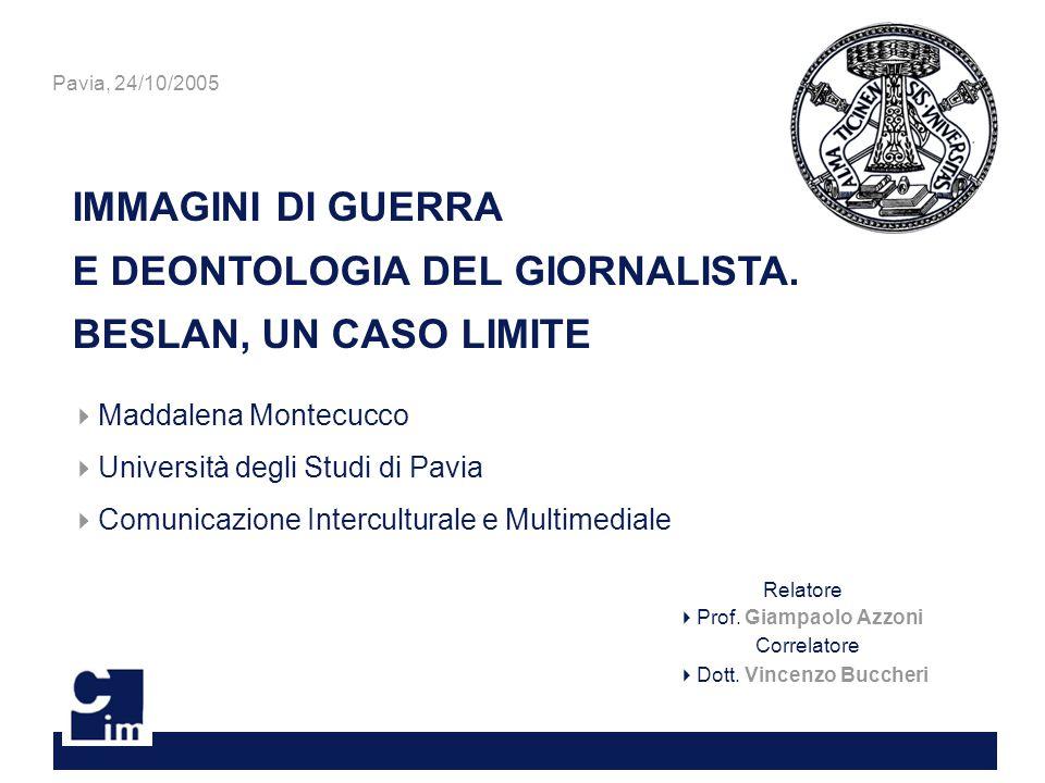 IMMAGINI DI GUERRA E DEONTOLOGIA DEL GIORNALISTA.
