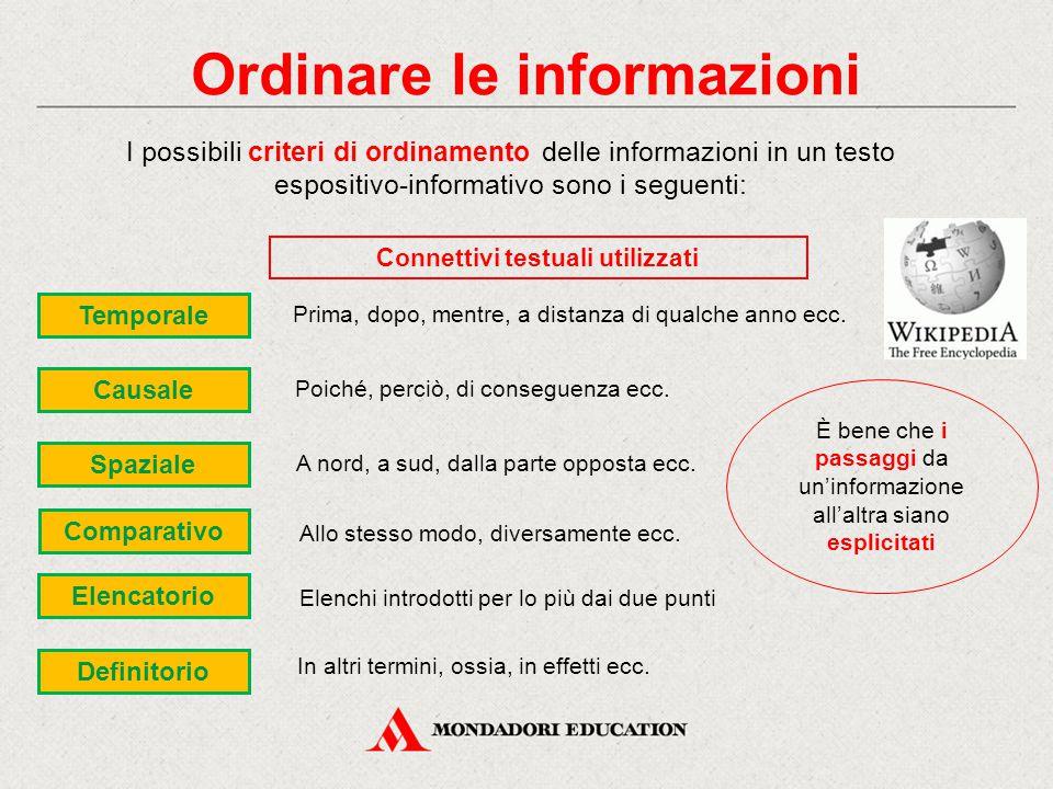 L'esposizione efficace Perché l'informazione e l'esposizione siano efficaci, è bene che il testo venga articolato in 3 sezioni: 1.