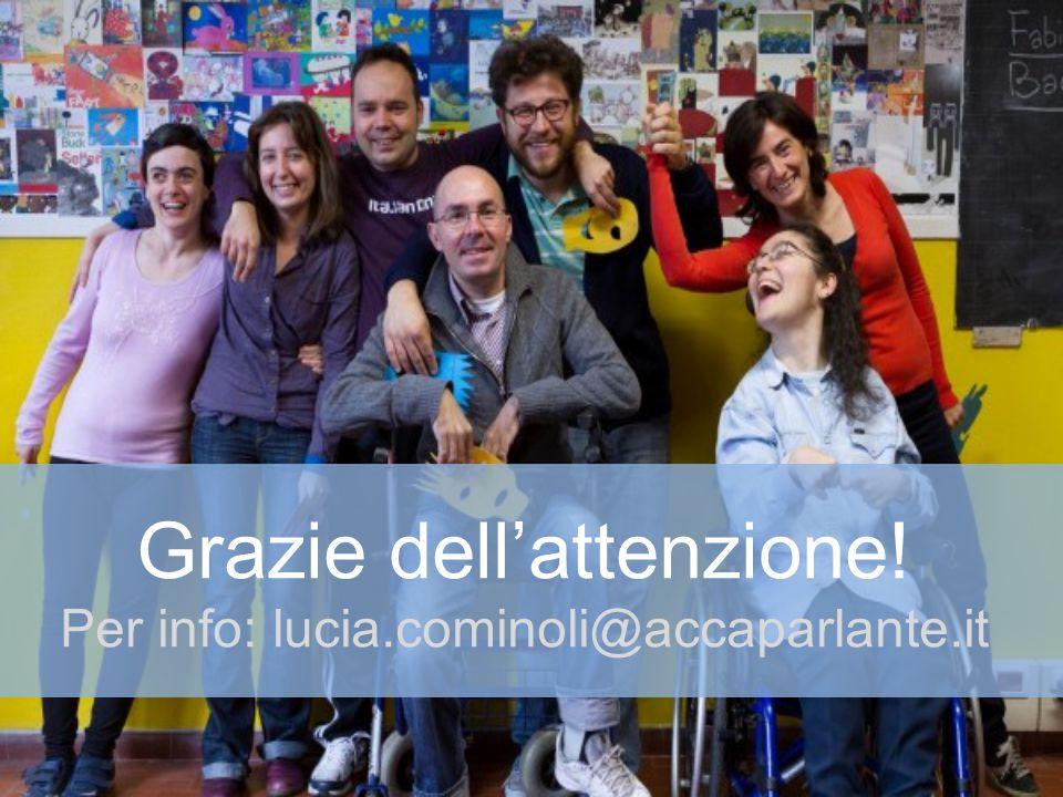 Grazie dell'attenzione! Per info: lucia.cominoli@accaparlante.it