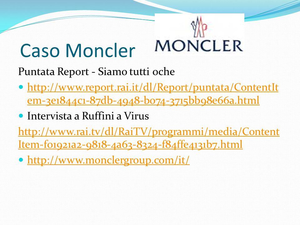 Caso Cucinelli Intervista a Cuccinelli a Uno Mattina 2013 https://www.youtube.com/watch?v=lq0DLaYw-xo Seconda parte di Report