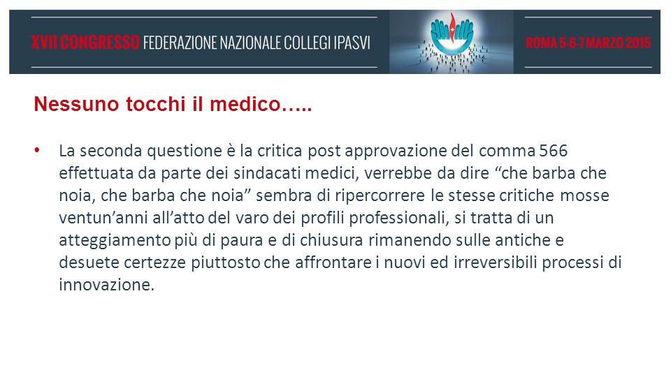 Nessuno tocchi il medico….. La seconda questione è la critica post approvazione del comma 566 effettuata da parte dei sindacati medici, verrebbe da di