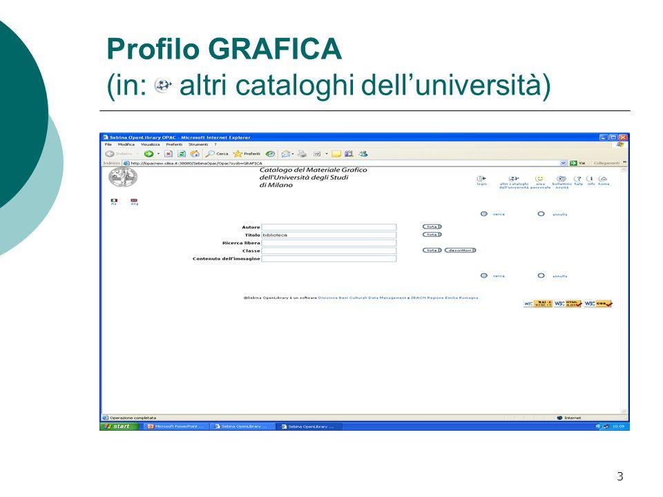 3 Profilo GRAFICA (in: altri cataloghi dell'università)