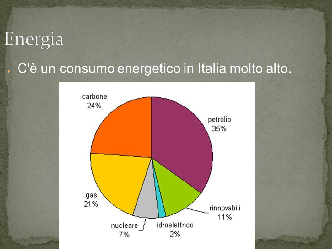 ● C'è un consumo energetico in Italia molto alto.