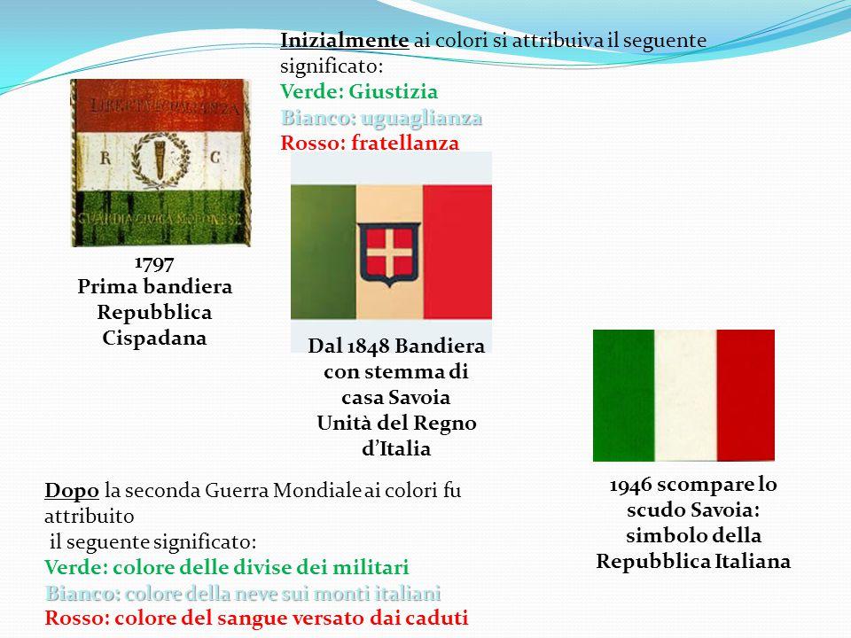 La bandiera italiana e L'inno di Mameli sono il simbolo dell'unità e rappresentano l'orgoglio di essere italiani.