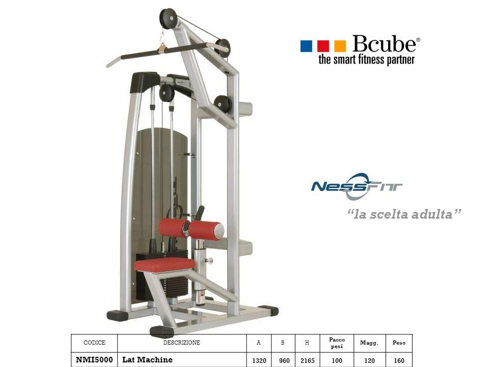 CODICEDESCRIZIONEABH Pacco pesi Magg.Peso NMI5000Lat Machine 13209602165100120160 la scelta adulta