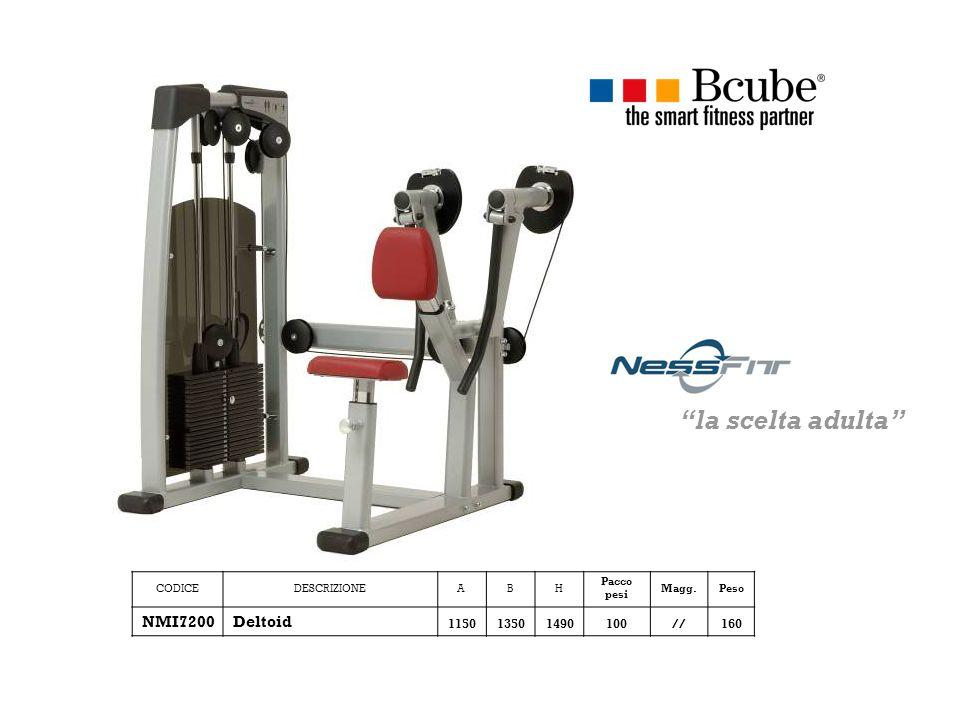 CODICEDESCRIZIONEABH Pacco pesi Magg.Peso NMI7200Deltoid 115013501490100//160 la scelta adulta