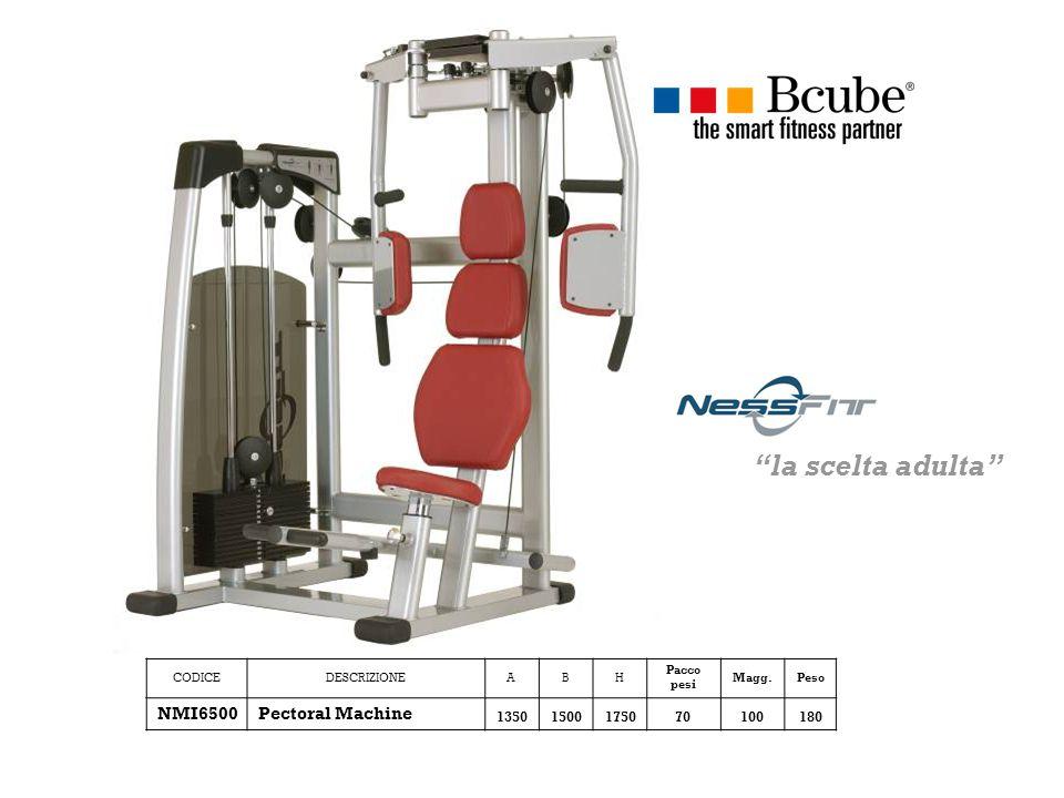 CODICEDESCRIZIONEABH Pacco pesi Magg.Peso NMI6500Pectoral Machine 13501500175070100180 la scelta adulta