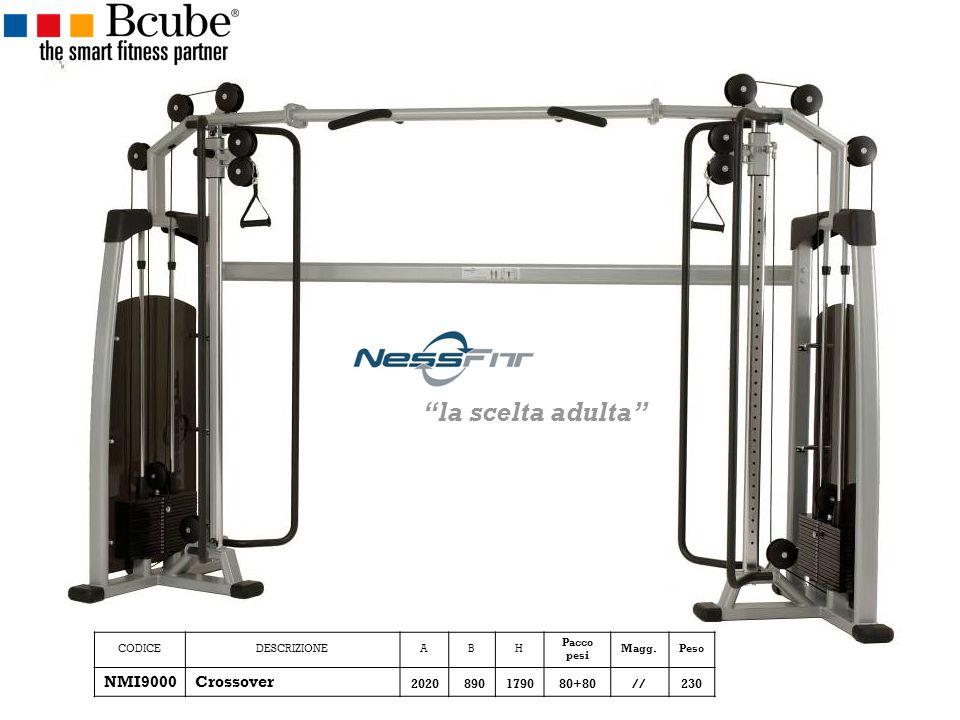 CODICEDESCRIZIONEABH Pacco pesi Magg.Peso NMI9000Crossover 2020890179080+80//230 la scelta adulta