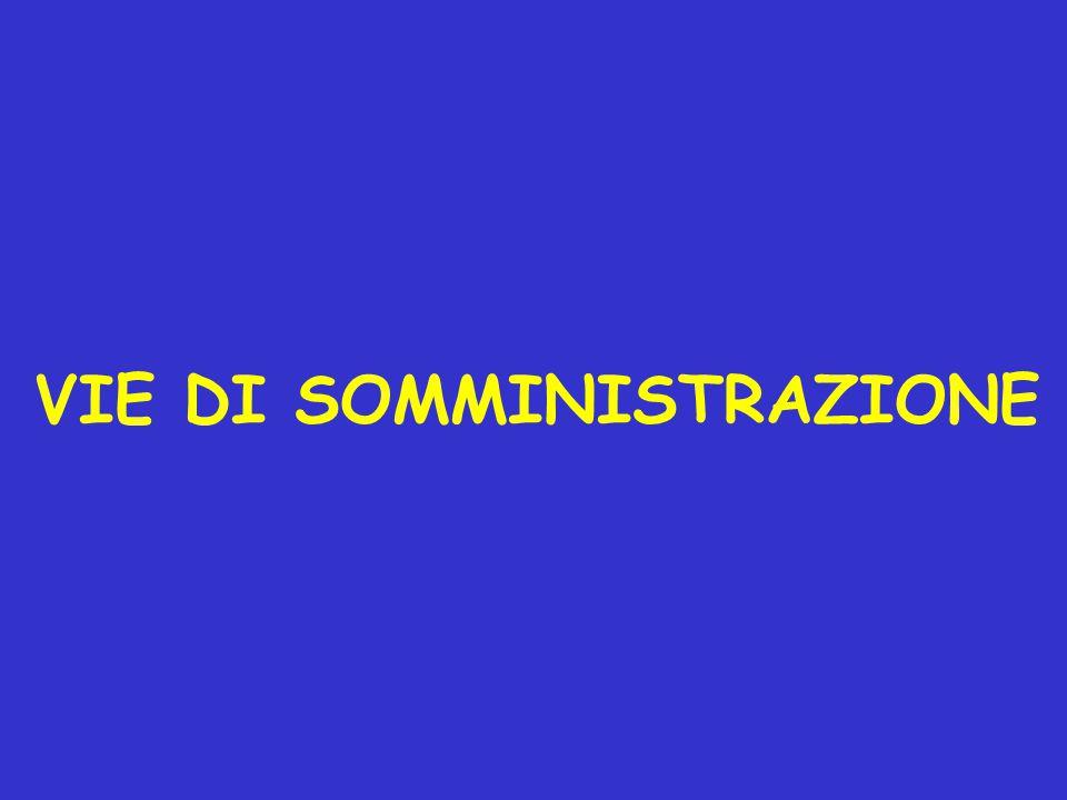 VIE DI SOMMINISTRAZIONE
