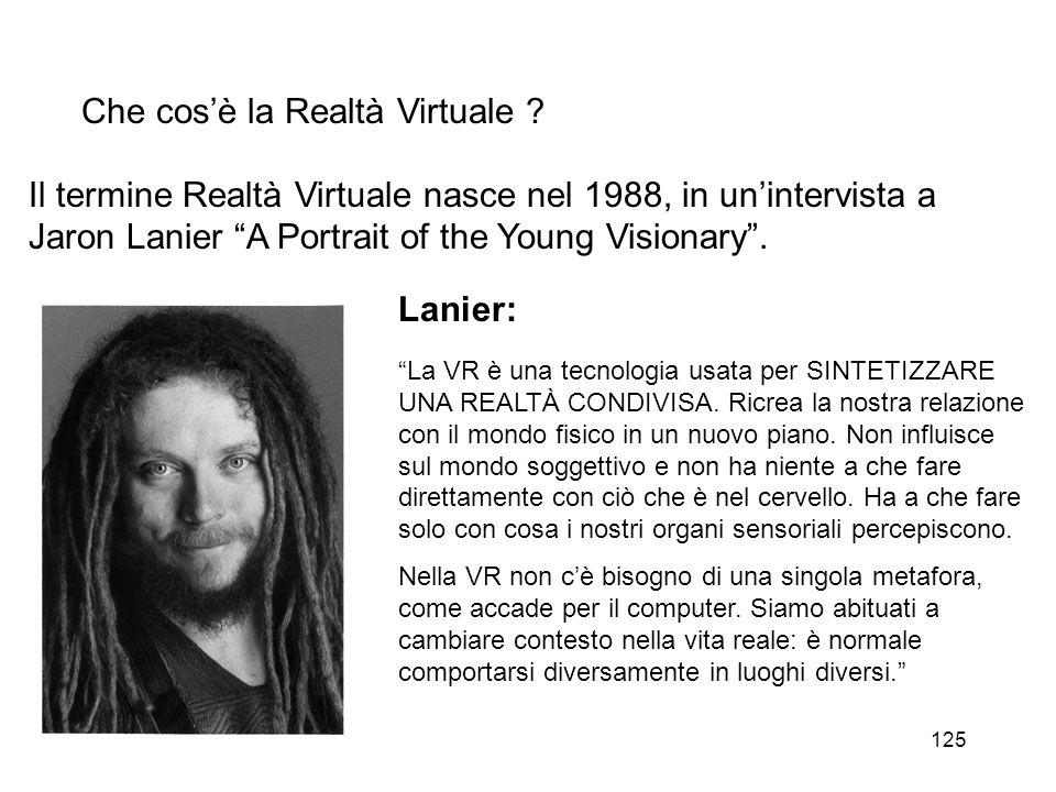 126 Che cos'è la Realtà Virtuale .
