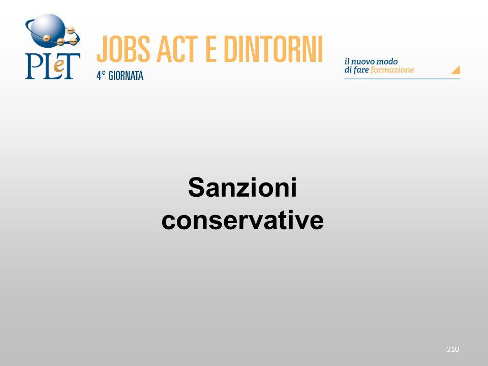 210 Sanzioni conservative