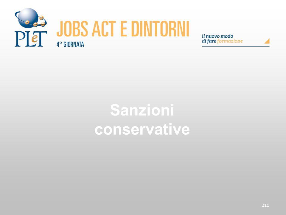 211 Sanzioni conservative