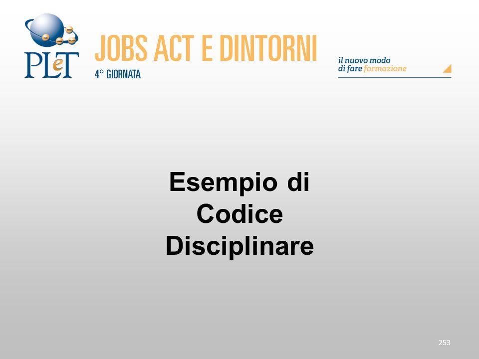 253 Esempio di Codice Disciplinare