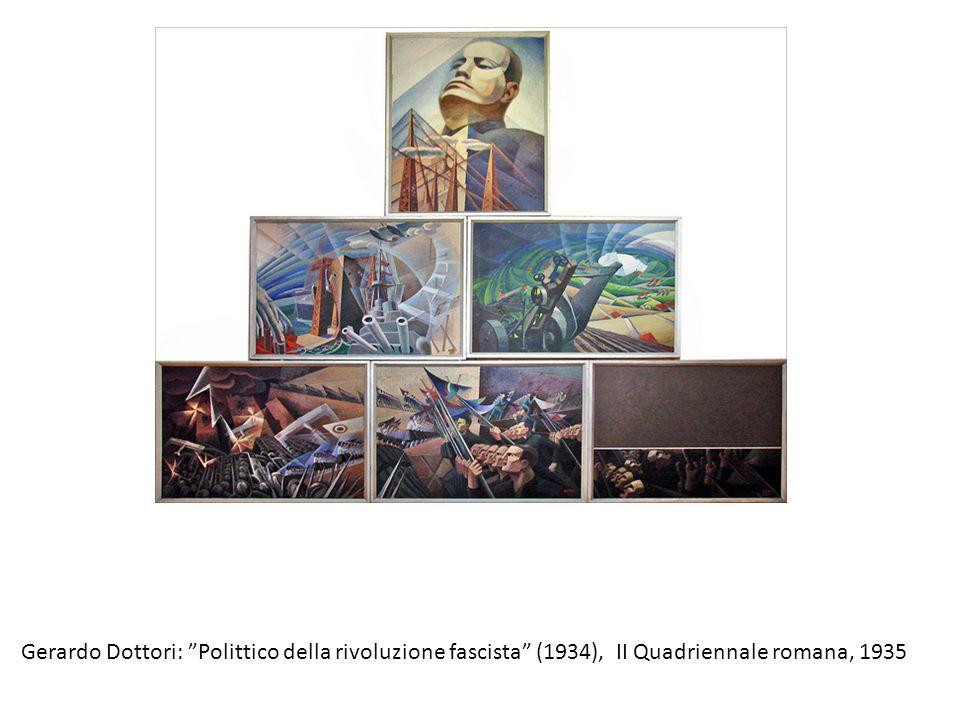 """Gerardo Dottori: """"Polittico della rivoluzione fascista"""" (1934), II Quadriennale romana, 1935"""