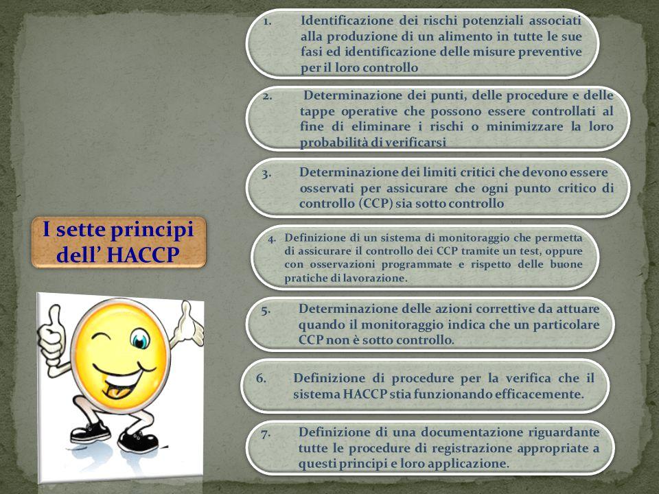 I sette principi dell' HACCP I sette principi dell' HACCP