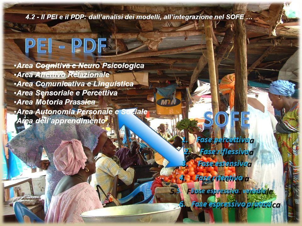 4.2 - Il PEI e il PDP: dall'analisi dei modelli, all'integrazione nel SOFE … 4.2 - Il PEI e il PDP: dall'analisi dei modelli, all'integrazione nel SOFE … 6.