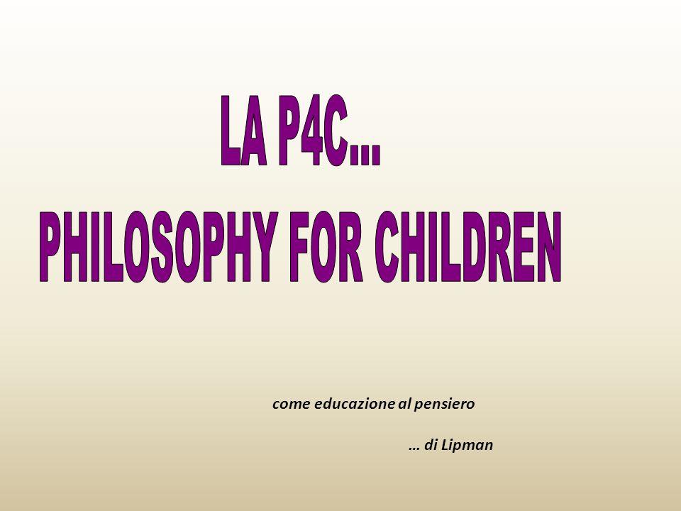come educazione al pensiero … di Lipman