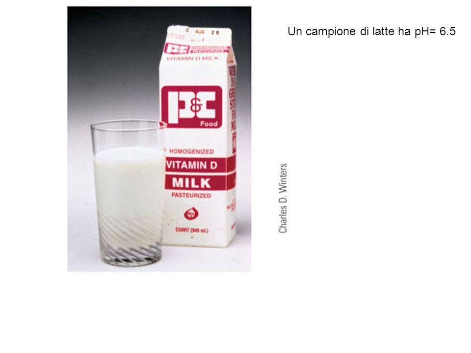 Un campione di latte ha pH= 6.5