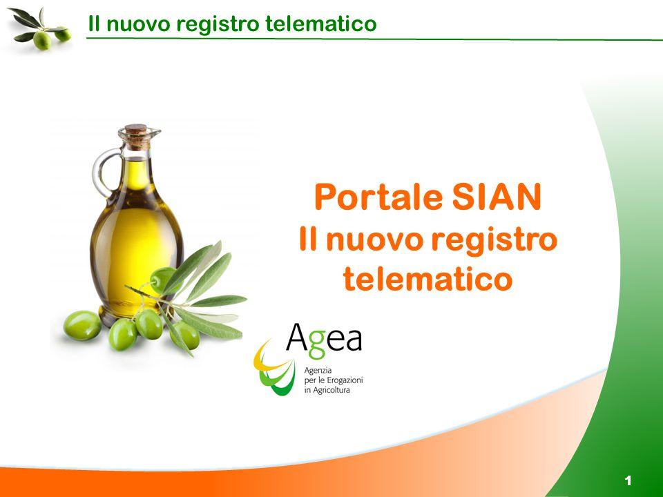 Il nuovo registro telematico 11 Portale SIAN Il nuovo registro telematico