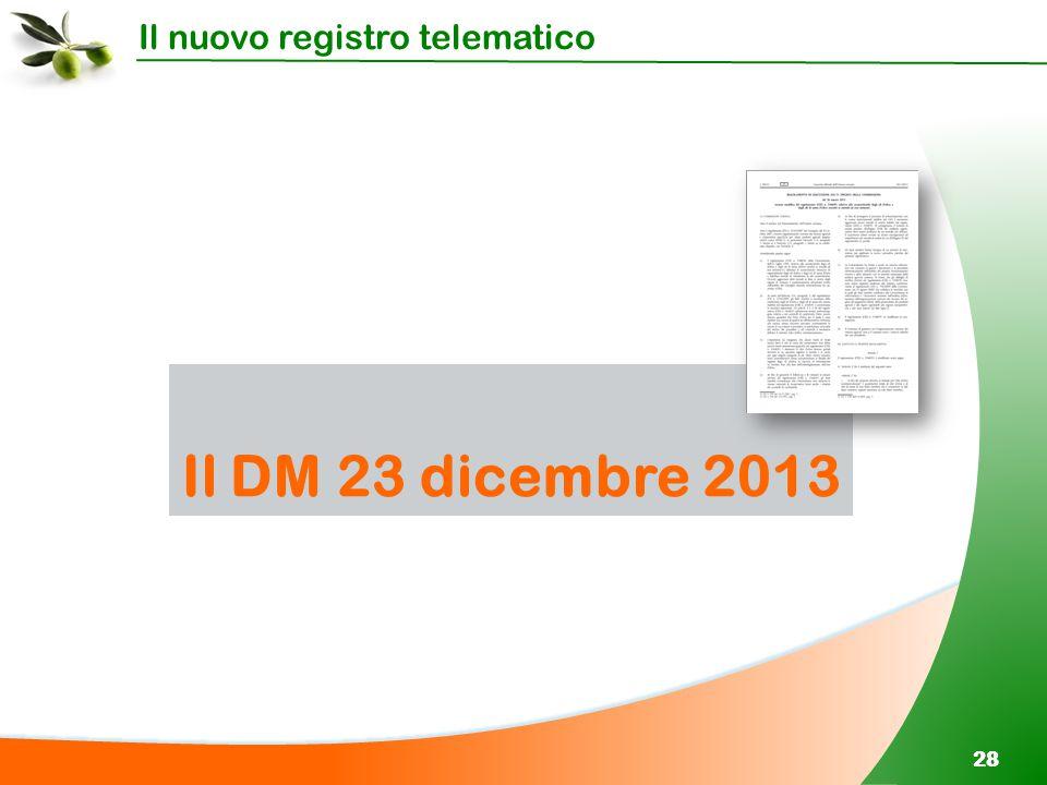 Il nuovo registro telematico 28 Il DM 23 dicembre 2013