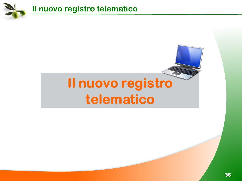 Il nuovo registro telematico 36 Il nuovo registro telematico