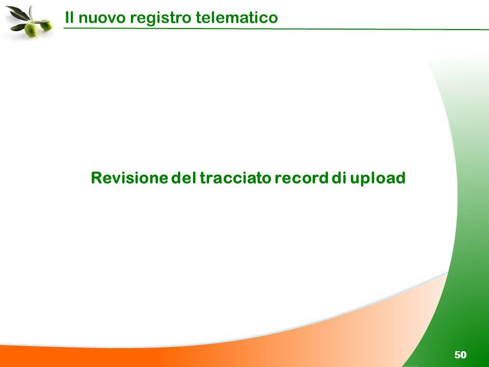 Il nuovo registro telematico 50 Revisione del tracciato record di upload