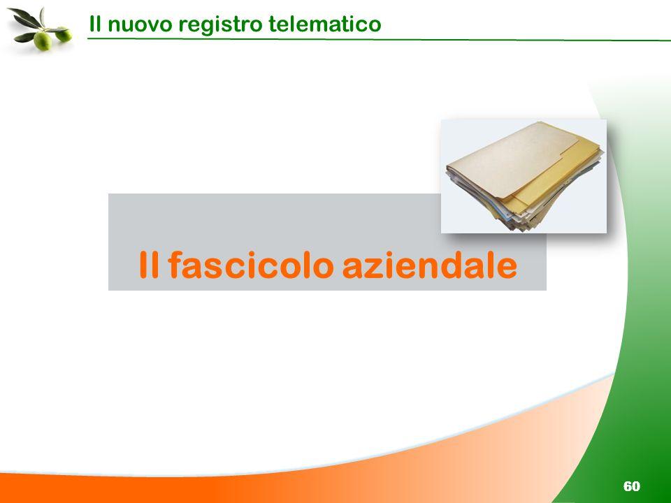 Il nuovo registro telematico 60 Il fascicolo aziendale