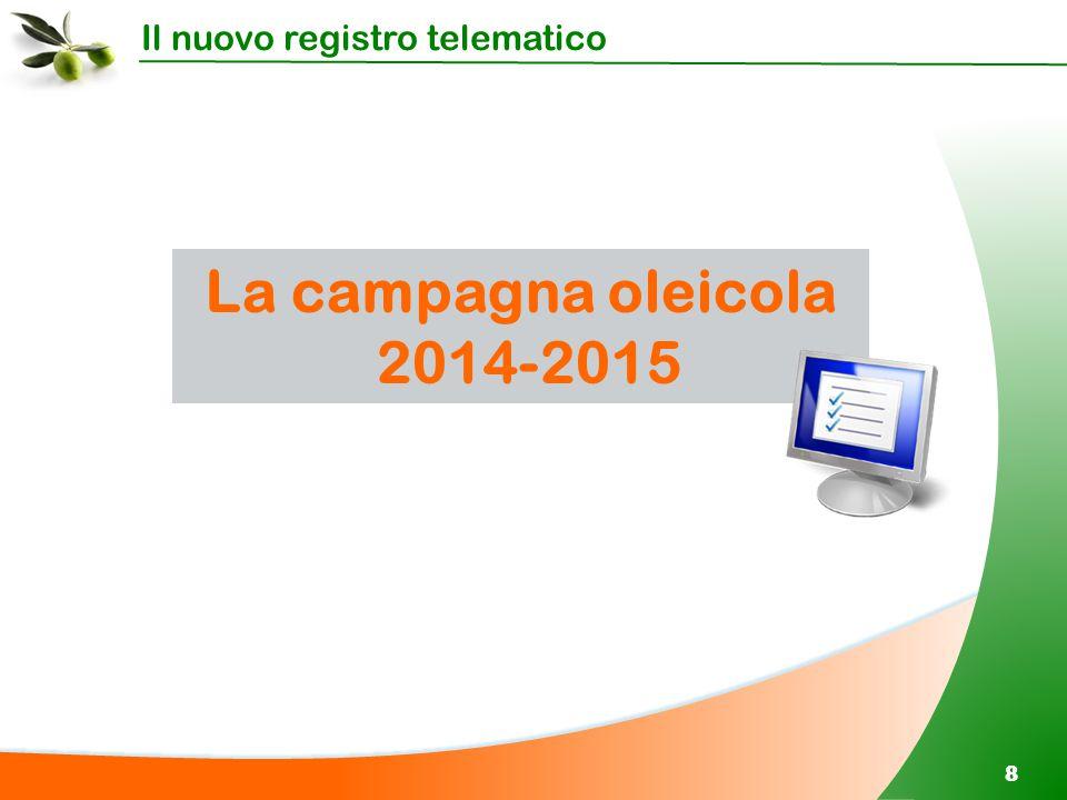 Il nuovo registro telematico 88 La campagna oleicola 2014-2015