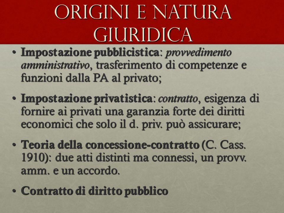 -Origini: strumento di traslazione di pubblici poteri -l.