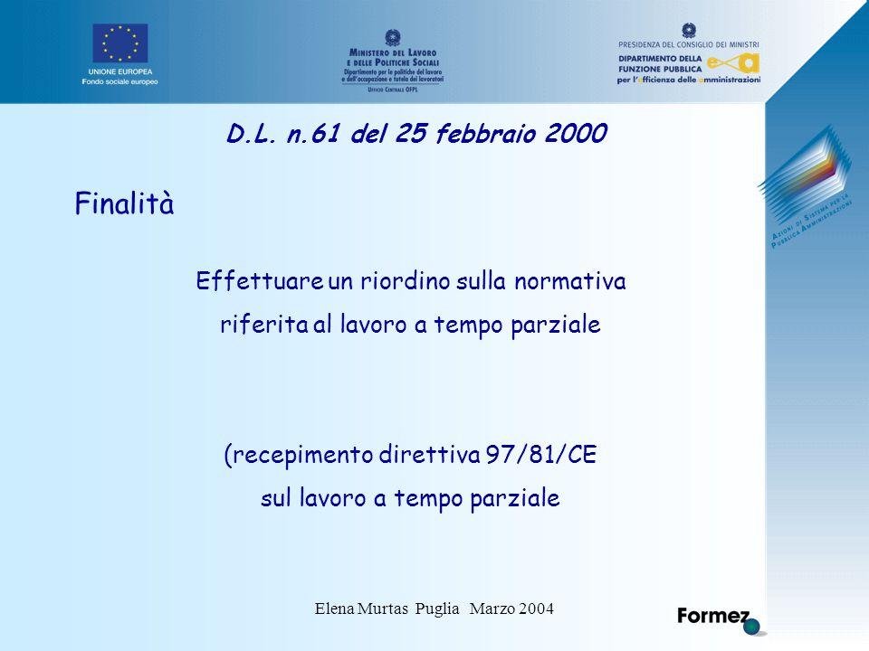 Elena Murtas Puglia Marzo 2004 D.L.