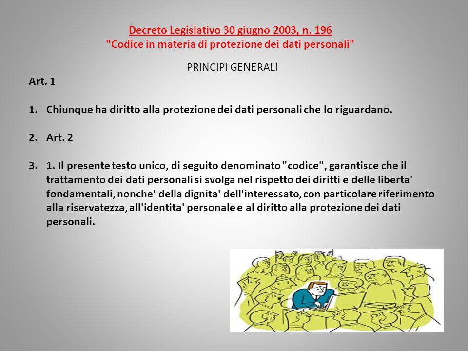 Decreto Legislativo 30 giugno 2003, n.
