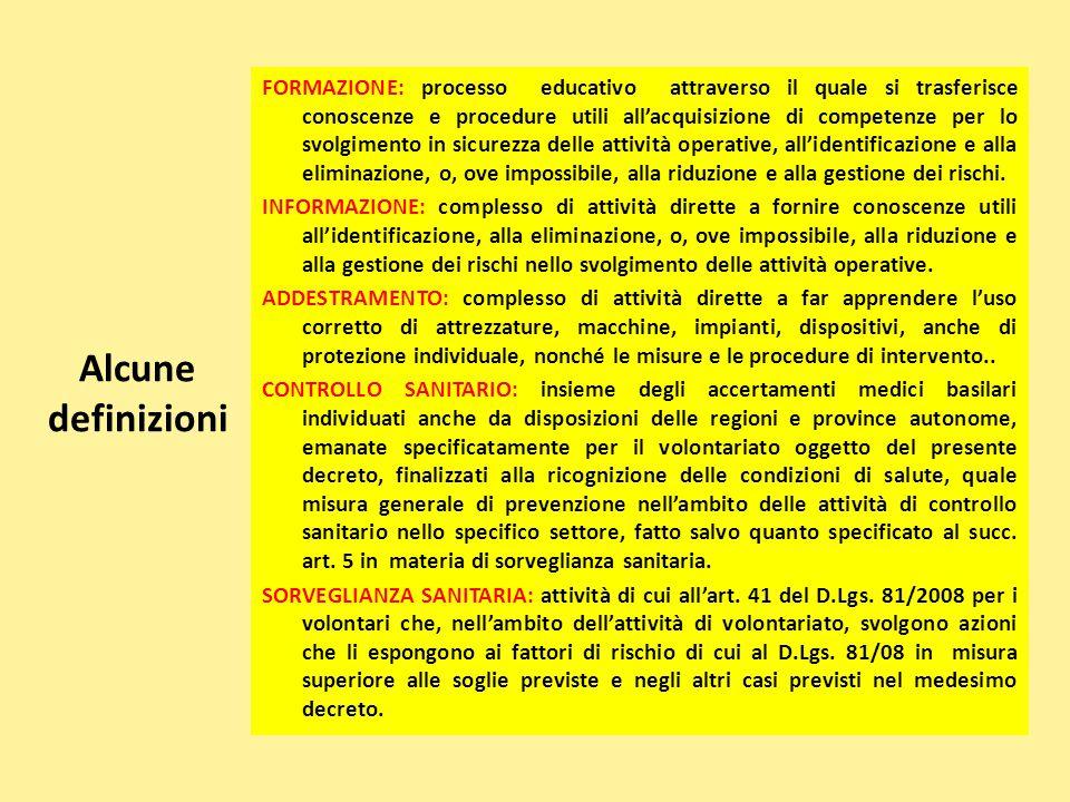Alcune definizioni FORMAZIONE: processo educativo attraverso il quale si trasferisce conoscenze e procedure utili all'acquisizione di competenze per l