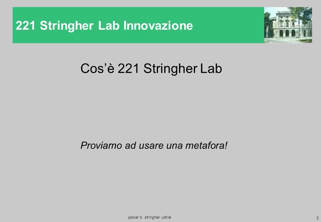 3 ipscar b. stringher udine 221 Stringher Lab Innovazione Cos'è 221 Stringher Lab Proviamo ad usare una metafora!