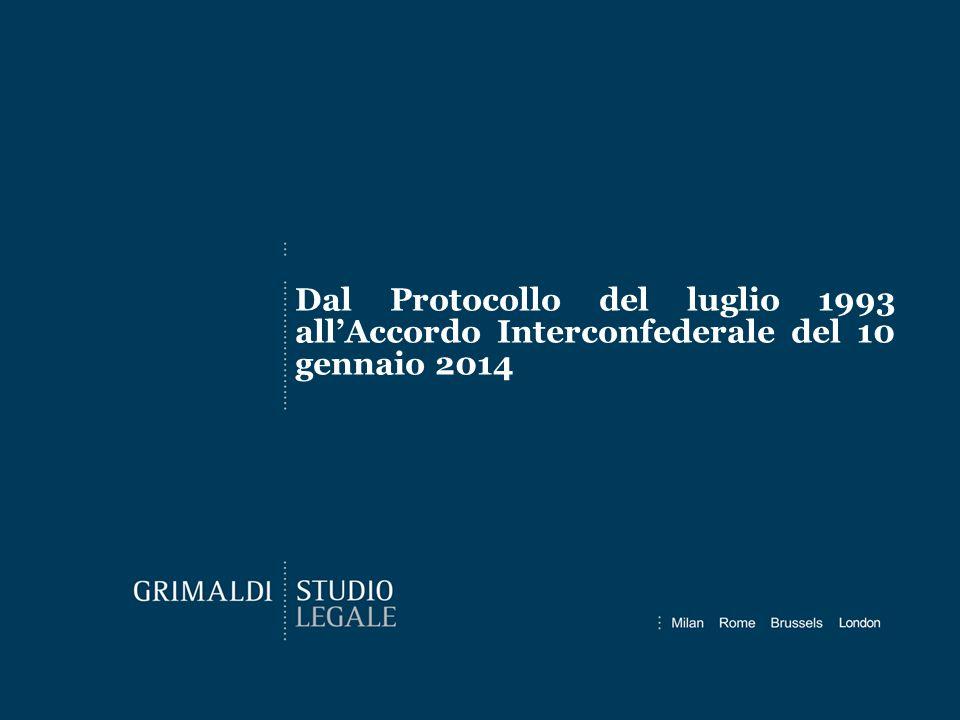Dal Protocollo del luglio 1993 all'Accordo Interconfederale del 10 gennaio 2014