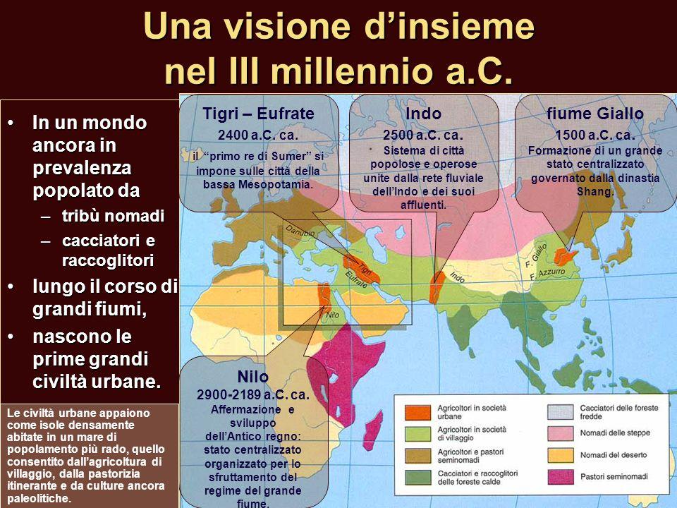 Una visione d'insieme nel III millennio a.C. In un mondo ancora in prevalenza popolato daIn un mondo ancora in prevalenza popolato da –tribù nomadi –c