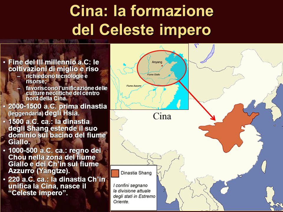 Cina: la formazione del Celeste impero Fine del III millennio a.C: le coltivazioni di miglio e risoFine del III millennio a.C: le coltivazioni di migl
