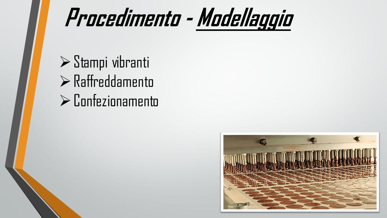 Procedimento - Modellaggio  Stampi vibranti  Raffreddamento  Confezionamento