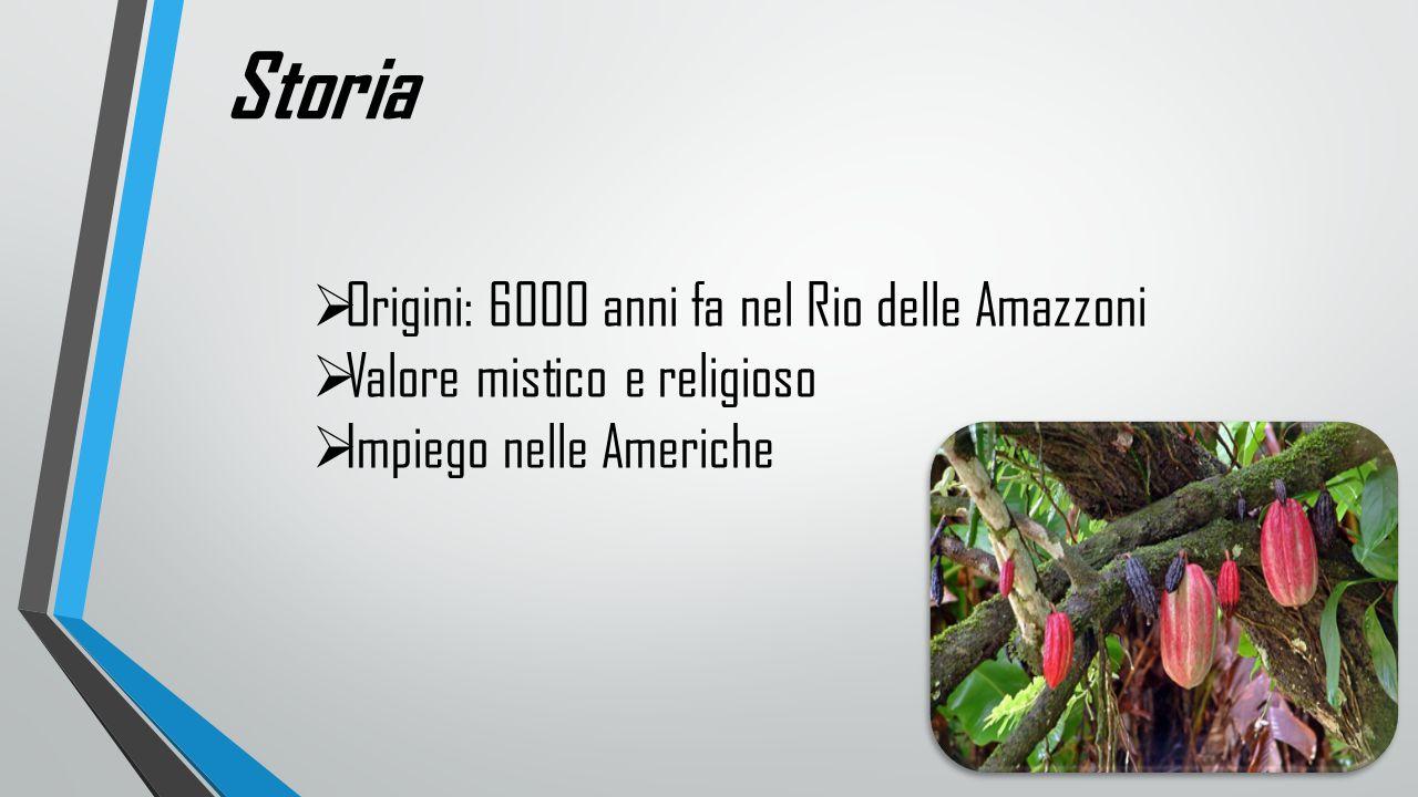 Storia  Origini: 6000 anni fa nel Rio delle Amazzoni  Valore mistico e religioso  Impiego nelle Americhe